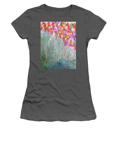 Love Flower Mountain Women's T-Shirt (Athletic Fit)