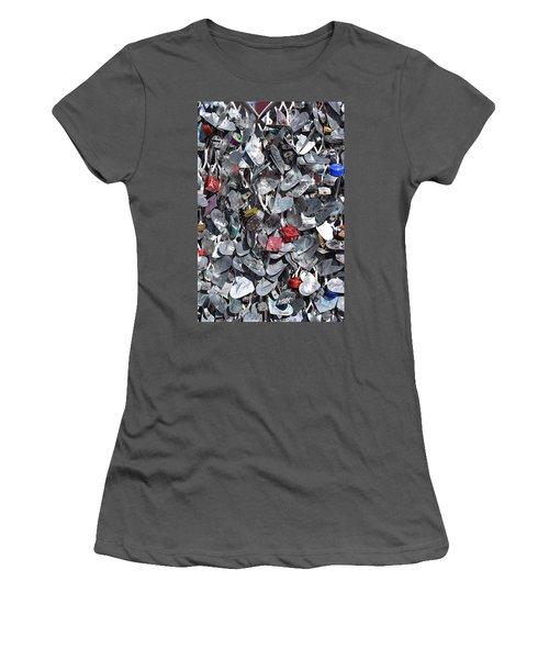 Love Locks On Fremont Street Women's T-Shirt (Athletic Fit)