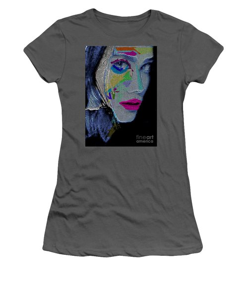 Women's T-Shirt (Athletic Fit) featuring the digital art Love The Way You Look by Rafael Salazar