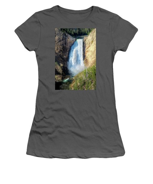 Lower Yellowstone Falls Women's T-Shirt (Athletic Fit)