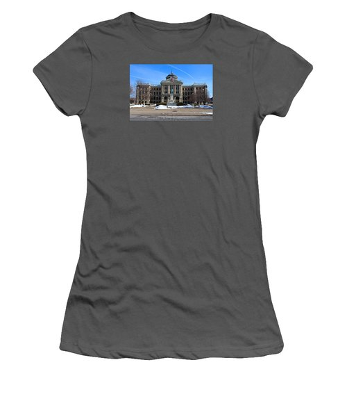 Women's T-Shirt (Junior Cut) featuring the photograph Lucas County Courthouse I by Michiale Schneider