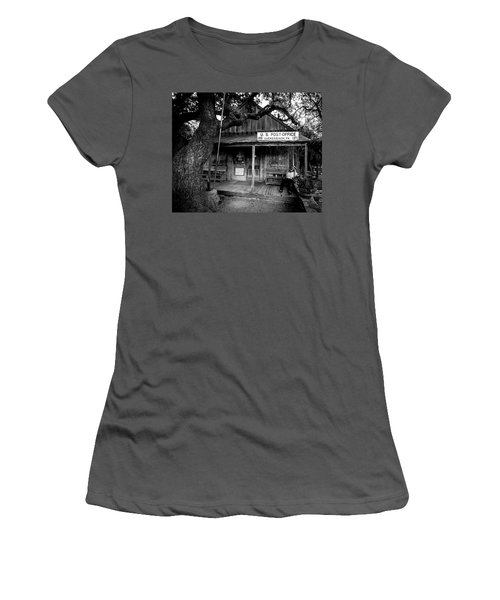 Women's T-Shirt (Athletic Fit) featuring the photograph Luckenbach Texas by David Morefield