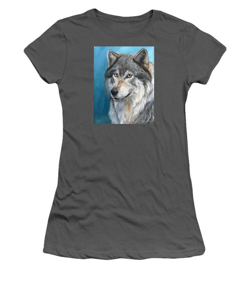 Women's T-Shirt (Junior Cut) featuring the painting Luna by Sherry Shipley
