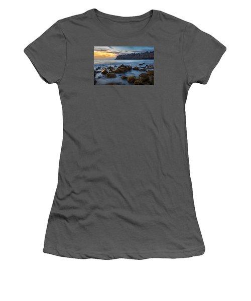 Lunada Bay Women's T-Shirt (Junior Cut) by Ed Clark