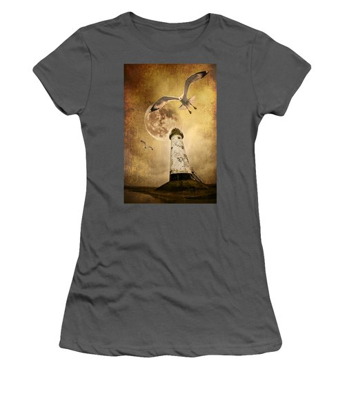 Lunar Flight Women's T-Shirt (Athletic Fit)
