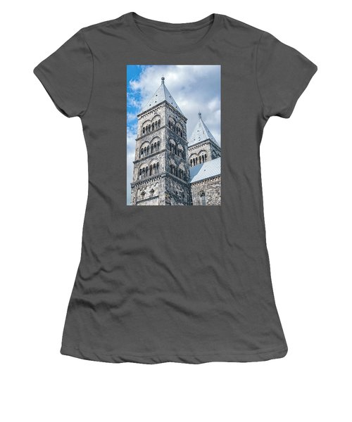 Women's T-Shirt (Junior Cut) featuring the photograph Lund Cathedral In Sweden by Antony McAulay