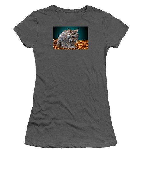 Lynx Women's T-Shirt (Junior Cut) by Brian Stevens