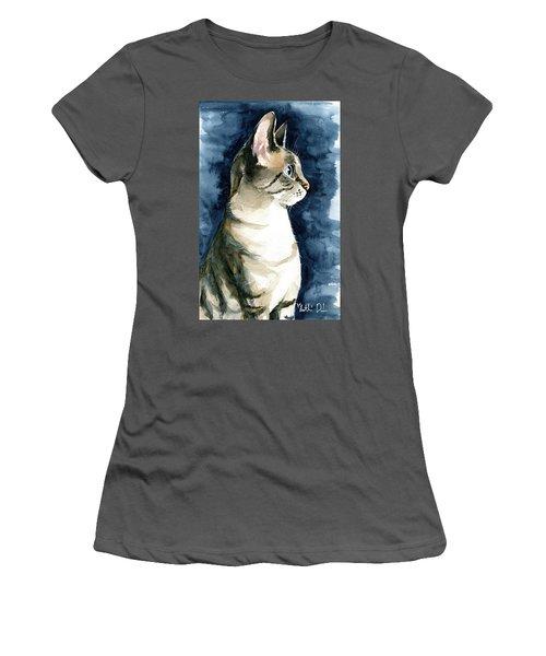 Lynx Point Cat Portrait Women's T-Shirt (Athletic Fit)
