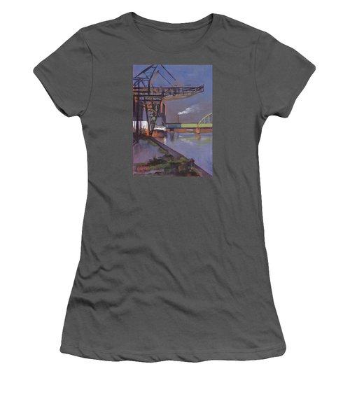 Maastricht Industry Women's T-Shirt (Junior Cut) by Nop Briex