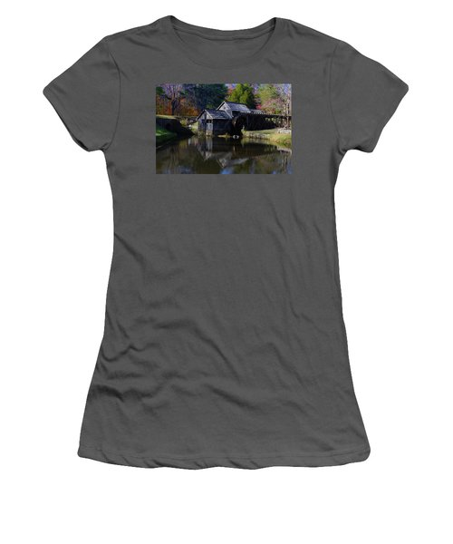 Women's T-Shirt (Junior Cut) featuring the photograph Mabrys Mill On The Blue Ridge by B Wayne Mullins