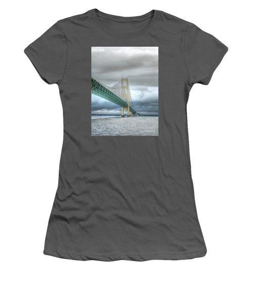 Mackinac Bridge Women's T-Shirt (Athletic Fit)