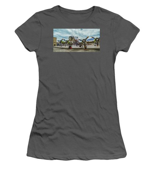 Madras Maiden B-17 Bomber Women's T-Shirt (Athletic Fit)