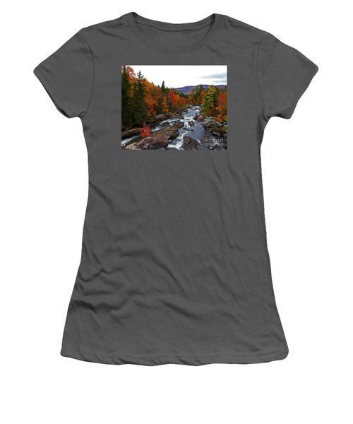 Magalloway River In Fall Women's T-Shirt (Athletic Fit)