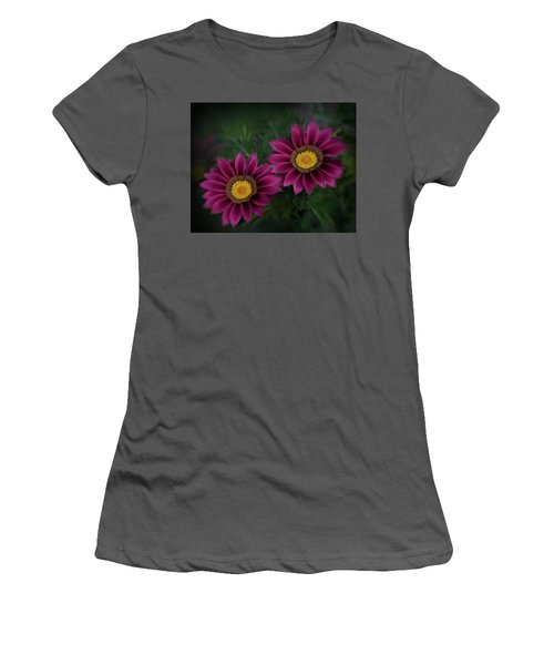 Women's T-Shirt (Junior Cut) featuring the photograph Magenta African Daisies by David and Carol Kelly