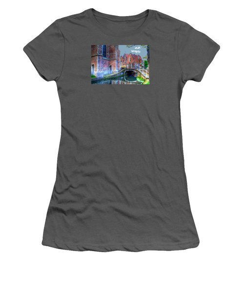 Women's T-Shirt (Junior Cut) featuring the photograph Magical Delft by Uri Baruch