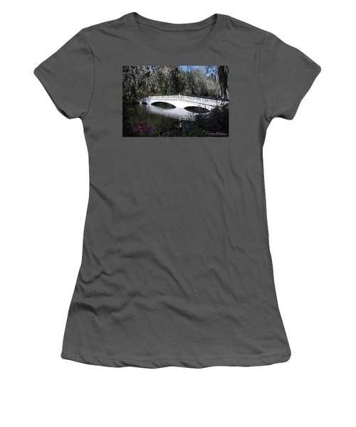 Magnolia Plantation Bridge Women's T-Shirt (Junior Cut) by Gordon Mooneyhan