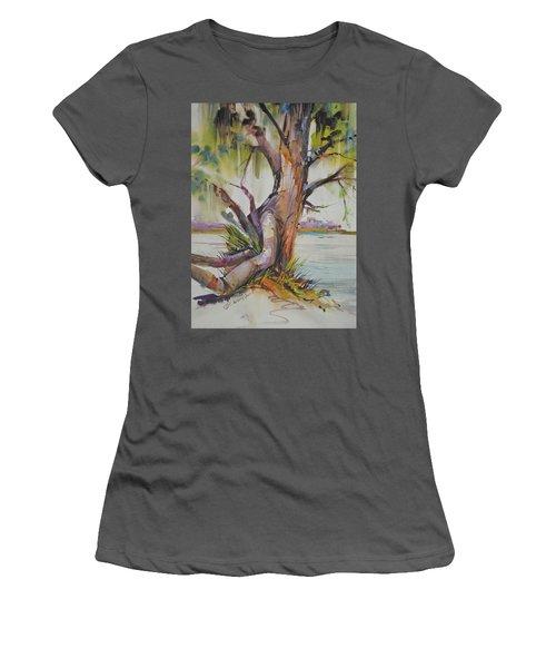 Majestic Live Oak  Women's T-Shirt (Junior Cut) by P Anthony Visco