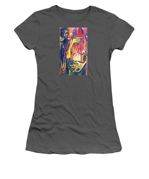Man And Woman Pregnant Women's T-Shirt (Junior Cut) by Kenneth Agnello