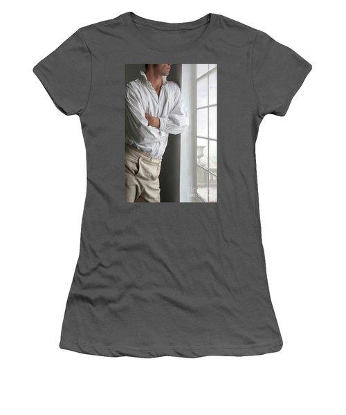 Man In Historical Shirt And Breeches Women's T-Shirt (Junior Cut) by Lee Avison