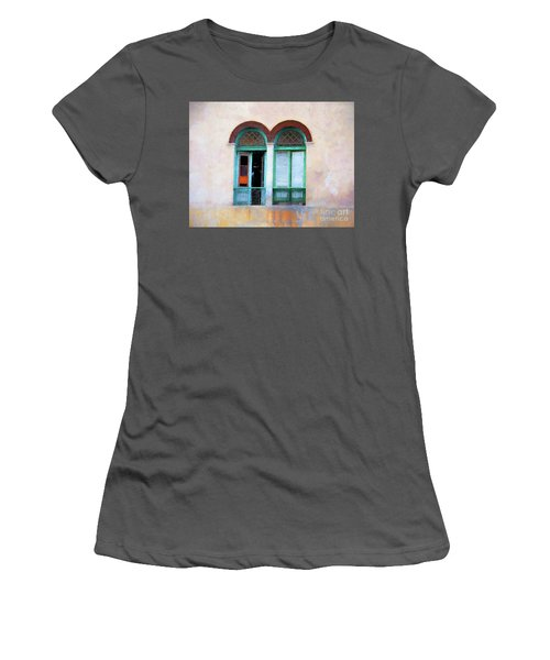 Women's T-Shirt (Junior Cut) featuring the mixed media Man In The Shadows by Jim  Hatch