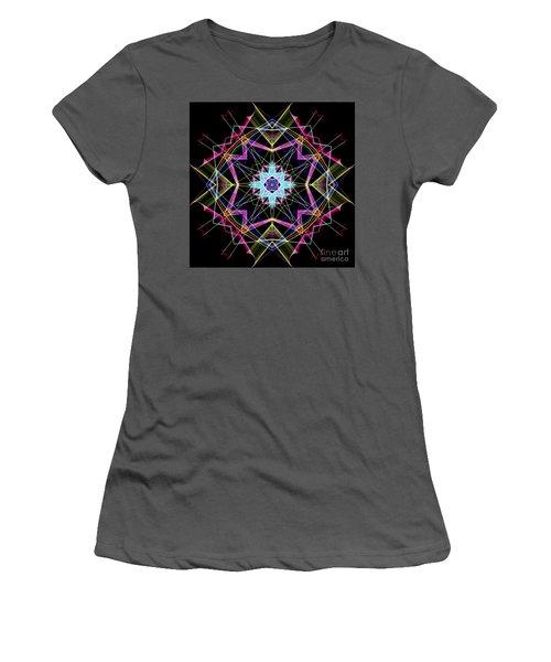 Women's T-Shirt (Athletic Fit) featuring the digital art Mandala 3304a  by Rafael Salazar