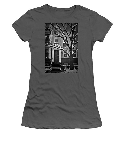 Women's T-Shirt (Athletic Fit) featuring the photograph Manhattan Town House by Joan Reese