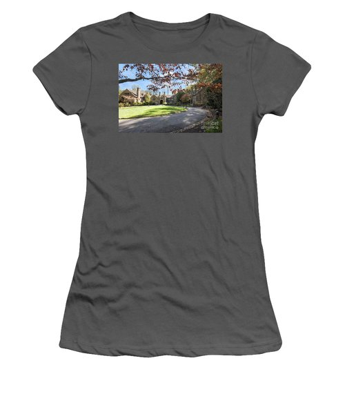 Mansion At Ridley Creek Women's T-Shirt (Junior Cut) by Judy Wolinsky