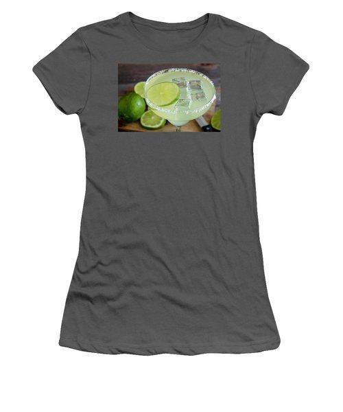 Women's T-Shirt (Junior Cut) featuring the photograph Margarita Close Up by Teri Virbickis