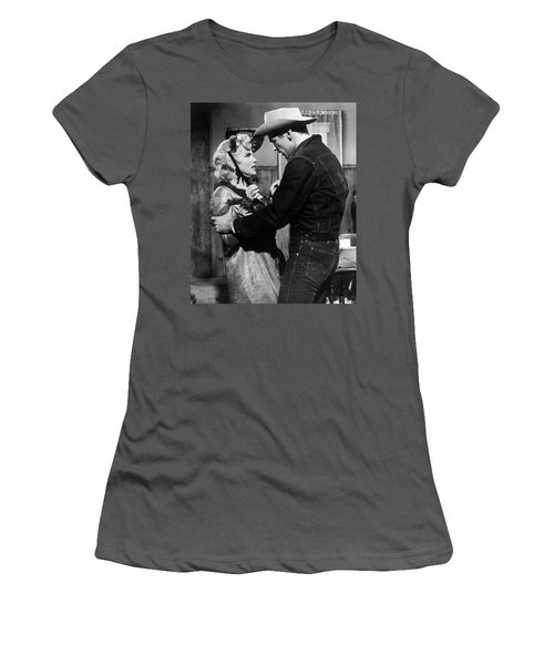 Women's T-Shirt (Athletic Fit) featuring the photograph Marilyn Monroe Scene by R Muirhead Art