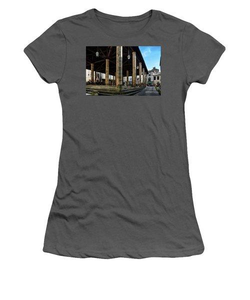 Market Hall Of Cordes-sur-ciel Women's T-Shirt (Junior Cut) by RicardMN Photography