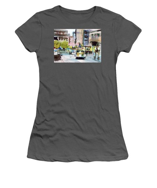 Women's T-Shirt (Junior Cut) featuring the painting Market Street by Ed Heaton