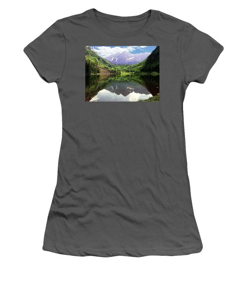 Maroon Bells  Women's T-Shirt (Athletic Fit)