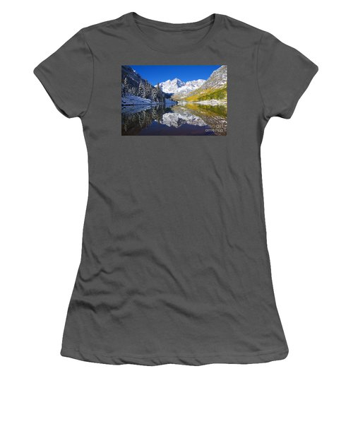 Maroon Lake And Bells 1 Women's T-Shirt (Athletic Fit)