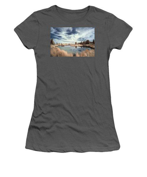 Marshlands In Washington Women's T-Shirt (Athletic Fit)