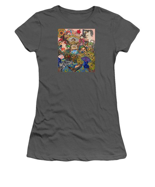 Martigras Masquerade Women's T-Shirt (Junior Cut) by Bonnie Siracusa