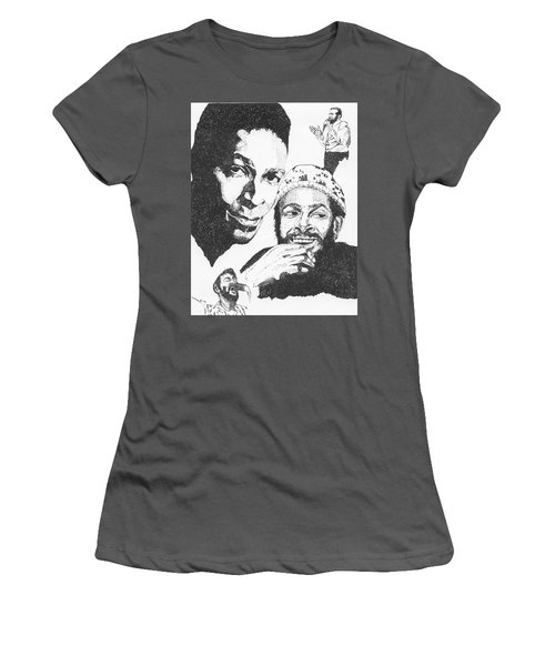 Marvin Gaye Tribute Women's T-Shirt (Athletic Fit)