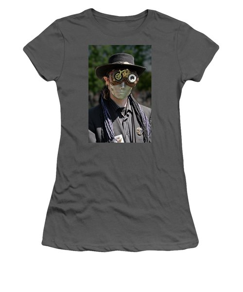Masked Man - Steampunk Women's T-Shirt (Athletic Fit)