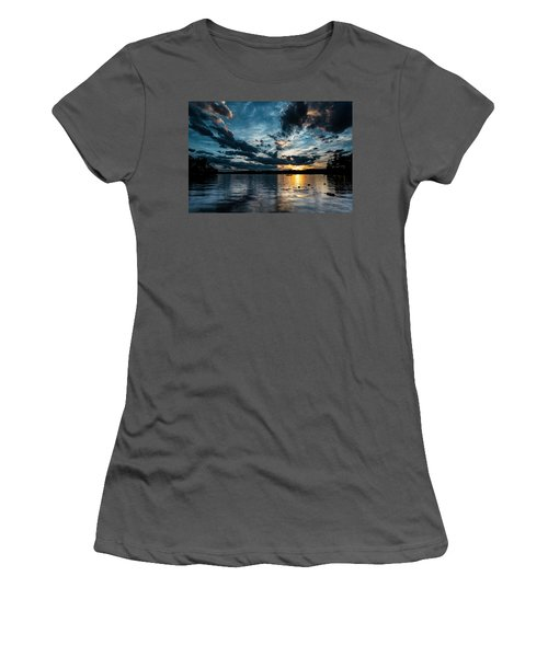 Masscupic Lake Sunset Women's T-Shirt (Athletic Fit)