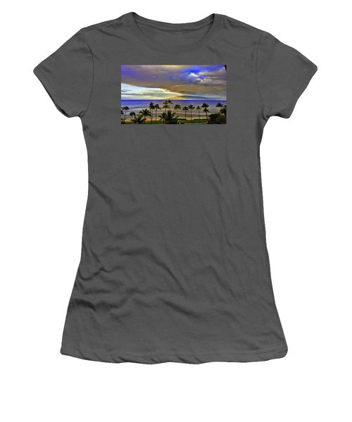 Maui Sunset At Hyatt Residence Club Women's T-Shirt (Athletic Fit)