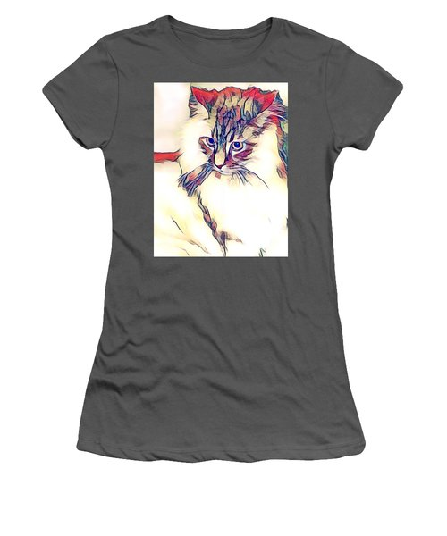 Max The Cat Women's T-Shirt (Athletic Fit)