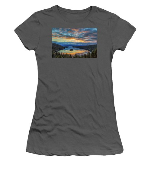 May Sunrise At Emerald Bay Women's T-Shirt (Junior Cut) by Marc Crumpler