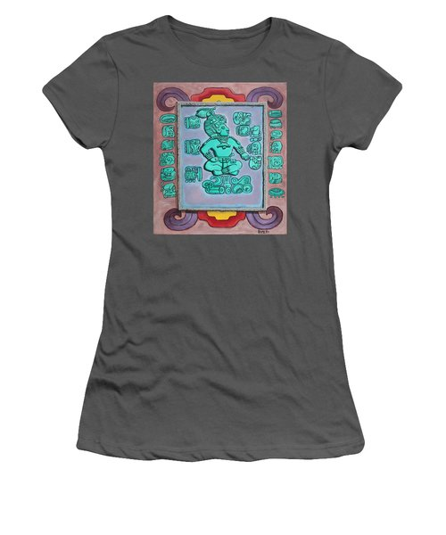 Women's T-Shirt (Junior Cut) featuring the painting Mayan Prince by Antonio Romero