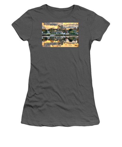 Mays Landing Morning Women's T-Shirt (Junior Cut) by John Loreaux