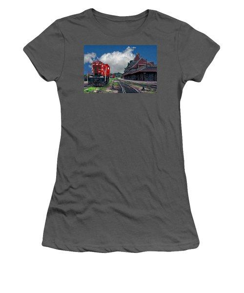 Mcadam Train Station Women's T-Shirt (Athletic Fit)