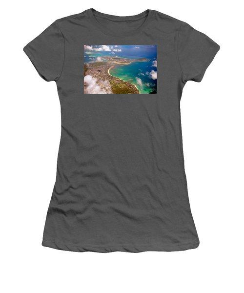 Women's T-Shirt (Junior Cut) featuring the photograph Mcbh Aerial View by Dan McManus