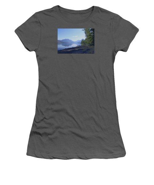 Mcdonald Lake Women's T-Shirt (Athletic Fit)