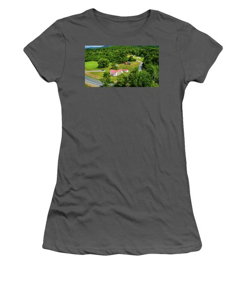 Mcghee Aerial 0068 Women's T-Shirt (Athletic Fit)