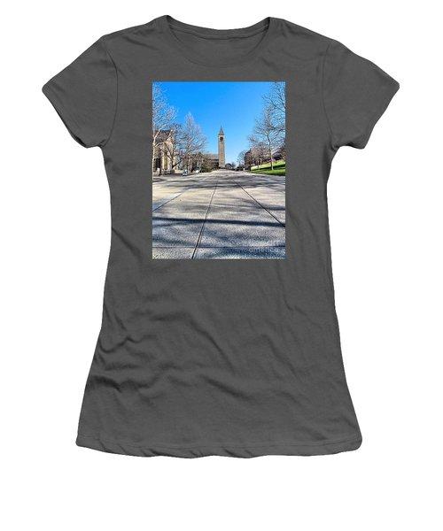 Mcgraw Tower  Women's T-Shirt (Junior Cut) by Elizabeth Dow