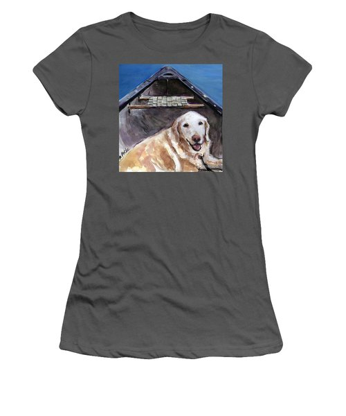 Women's T-Shirt (Junior Cut) featuring the painting Me You Canoe by Molly Poole