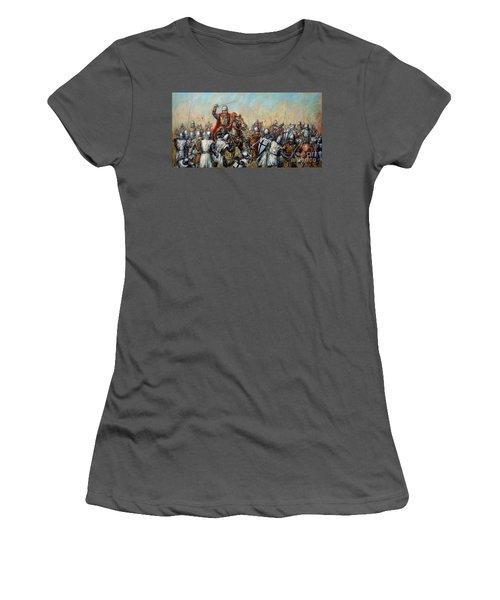 Medieval Battle Women's T-Shirt (Junior Cut) by Arturas Slapsys